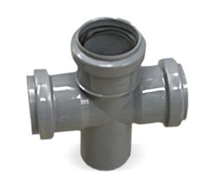 Kanalizācijas caurules krustgabals Bees D50mm, 90°, PP