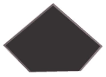 Kampinė lentynėlė Stiklita l6tr12 / 20, be laikiklių