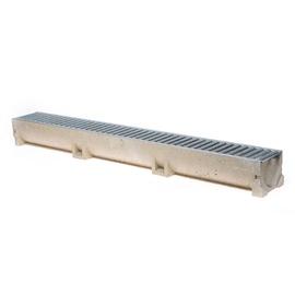 Latako elementas su cinkuoto plieno grotelėmis ACO 38700; 1 m