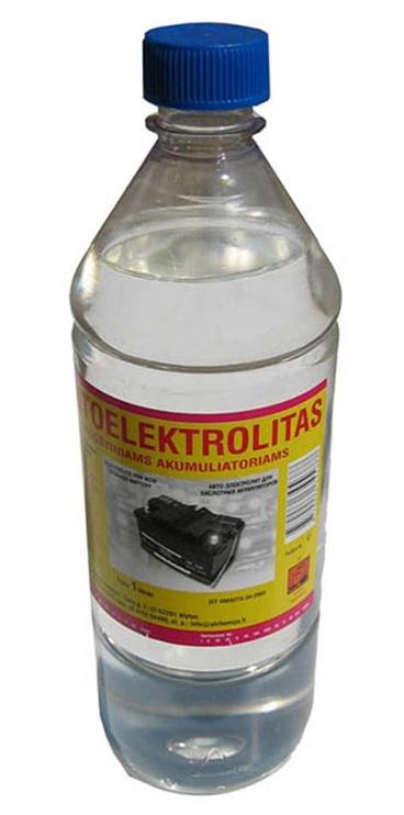Rūgštinių akumuliatorių elektrolitas Alytaus Chemija, 1L