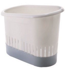 Köögiriistade hoidik plastik, valge