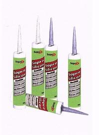 Vyšnių spalvos sanitarinis hermetikas Sopro 733 / 92, 310 ml
