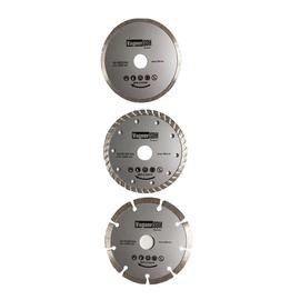 Deimantinių pjovimo diskų rinkinys, 125 mm, 3 vnt.