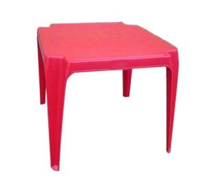 Vaikiškas raudonas staliukas