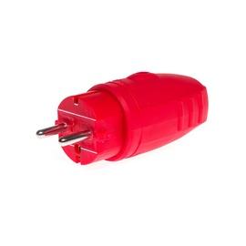 Pistik N&L IP44, punane, kummi