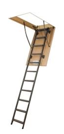 Sulenkiamieji laiptai į palėpę Fakro, metaliniai