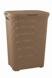 """Skalbinių dėžė """"Curver"""" Rattan 189209, 60 l, ruda"""