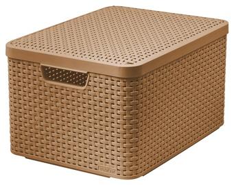 """Dėžė """"Curver"""" Style su dangčiu, L, šviesiai ruda"""