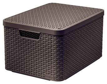 "Dėžė su dangčiu ""Curver"" Style, L, tamsiai ruda, 30 l"