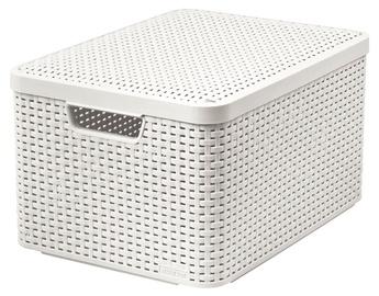 Dėžė su dangčiu Curver Style, L, kreminė