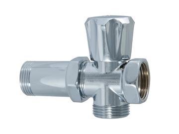 "Skalbimo mašinų ventilis ""TDM Brass"" 370, 3 / 4"" x 4 cm, su jungtimi"