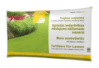 Ilgalaikio poveikio vejų vasarinės trąšos Baltic Agro, 15 kg