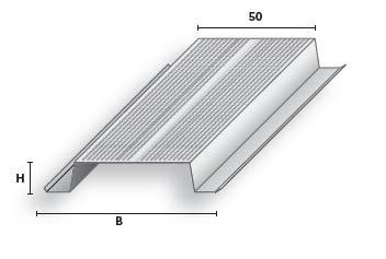 Mütsprofiil Favor MP 16/50 Zn055 3,0m