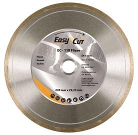Deimantinis ištisinis pjovimo diskas, 230x1,7x22,23 mm