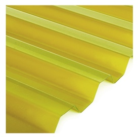 Laineplaat Salux, 0,9x2 m, PVC, kollane