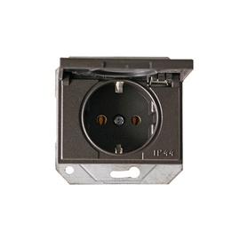 Pistikupesa XP500 maandusega IP44 raamita must