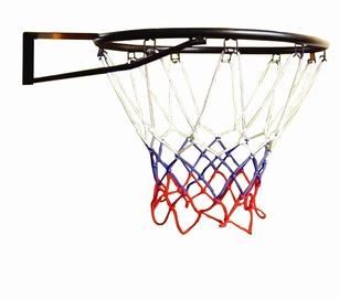 Krepšinio lankas su tinkleliu, 45 cm, juodas