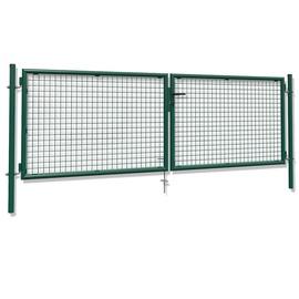 Vārti divviru, 4000x1200/1150 mm, zaļi