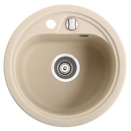Apvali virtuvės plautuvė Vask 260803007, 450 mm, smėlio spalvos