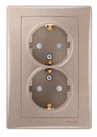 ROZETE SCHNEIDER SEDNA 1+1 B/A Z/K BĒŠA (Schneider Electric)