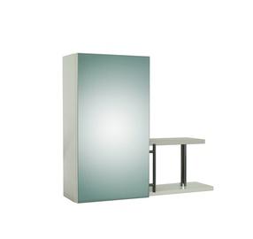 """Viršutinė vonios spintelė """"Mūsų šeimynėlė"""" S-1, su lentyna ir veidrodžiu"""