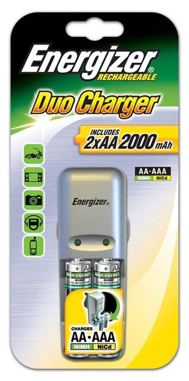 Bateriju lādētāja un bateriju komplekts Energizer Mini Charger, AA, 2000mAh, 2gab.