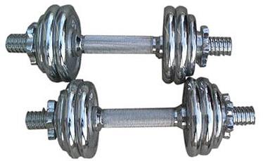 Surenkamų chromuotų svarmenų komplektas YLDS14, 15 kg