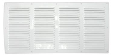 Ventilācijas reste 001410, 10x20cm, balta