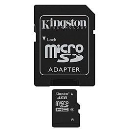 """ATMINTINĖS KORTELĖ """"KINGSTON MICRO SDHC 4 GB C4"""""""