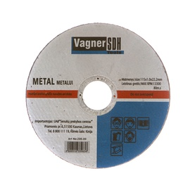 Plieno pjovimo diskas Vagner SDH, 115x1x22 mm