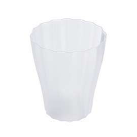 Lillepott, Ola, läbipaistev, plast, D13,4