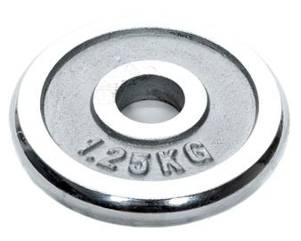Diskinis svarmuo YLPS18, 1,25 kg, chromuotas