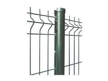 Segmentinė tvora, žalia, 3,5/3,8 x 200 x 50 x 1230 mm