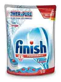 "Indaplovių tabletės Finish ""Power & Pure All in 1"", 50 vnt"