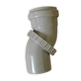 Regulējams kanalizācijas caurules līkums Bees D50mm, PP