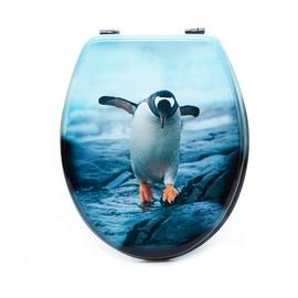 Tualetes poda vāks Futura, ar pingvīnu