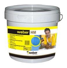 Apsauginė hidroizoliacija Weber HM, mėlyna, 17 kg