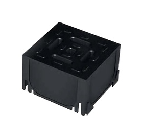 Plastikinis kampinės jungties elementas ACO 19280, juodas