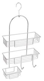 Dušo lentynėlė HIC-0419, metalinė, 3 dalių
