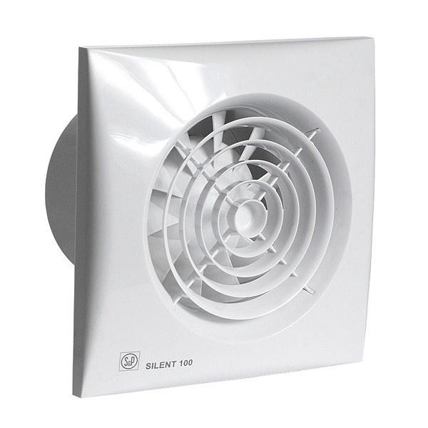 """Ištraukiamasis ventiliatorius """"S & P"""" Silent 100 CRZ"""