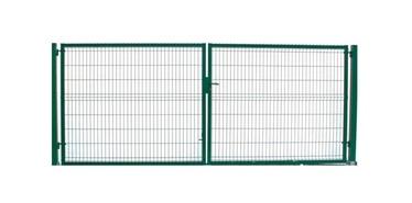 Segmentiniai vartai, 123 x 400 cm, 2 stulpai