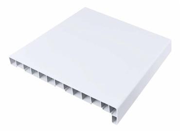 Balta PVC palangė su antgaliais, 250 x 1260 mm