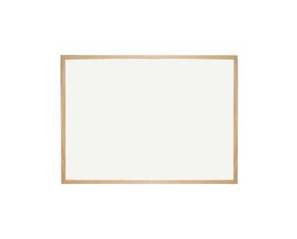 Balta rašymo lenta, ne magnetinė, 60 x 80 cm, mediniu rėmu