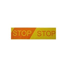 Įspėjamoji juosta su užrašu STOP