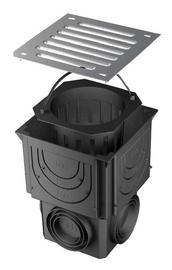 Trapas su cinkuotojo plieno grotelėmis ACO 316818