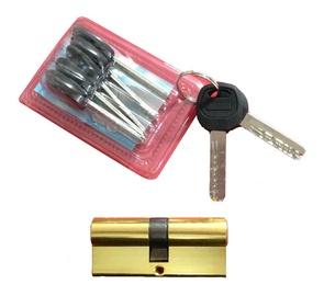 Spynos cilindras JMC6 70, 33 x 37 mm, žalvariuotas, su 7 raktais