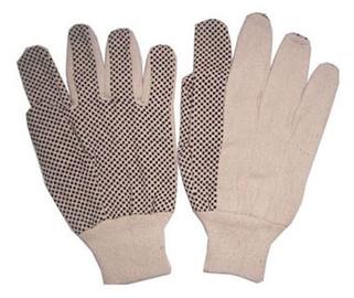 Medvilninės pirštinės su PVC taškeliais, XL dydis