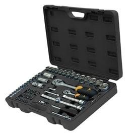 """Padrunvõtmete komplekt Forte Tools, ¼"""", ½"""",  65 tk"""