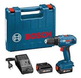 """Akumuliatorinis gręžtuvas """"Bosch"""" GSR 1440-LI, 14,4 V, 2 x 1,5 AH"""