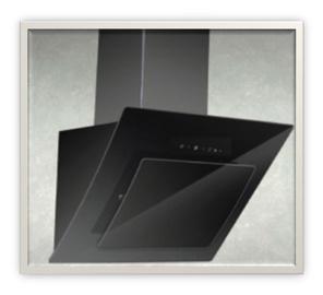 Tvaika nosūcējs Standart Carnetto 2010 60, melns